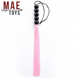 Pink Silicone Genitals Whip - MAE-SM-123-Pink