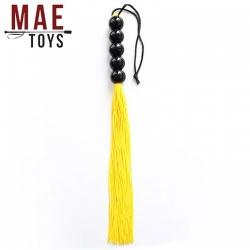 Yellow Silicone Genitals Whip - MAE-SM-123-YEL