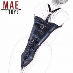 Bondage Faux Leather Monoglove - mae-sm-004