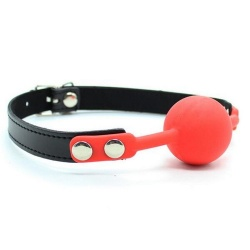 The Hush Siliconen ball gag - Rood - mae-sm-182red