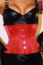 Plus-size Stilett Satin Corset Red - ET-EC002-SATIN-RED-plus