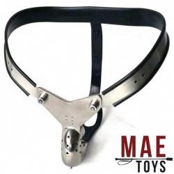 MAE-Toys Enforcer Steel Male Chastity Belt - mae-SM-197