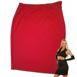 Red Stretch Skirt size UK 12 - EU40 - Le-3017-RED-UK12-EU40