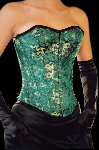 Wild Silk Corset Asia Dragon Green Plus Size - et-ec007-draakseid-grn-plus