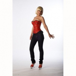 Wild Silk Corset Asia Dragon Red Plus Size - et-ec007-draakseid-red-plus