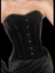 Nobles Black Velvet Corset Plus Size - ET-EC007-SA/BL-PLUS