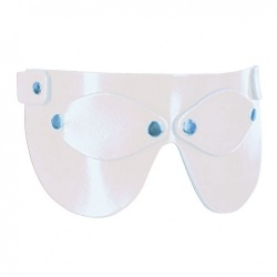 White Leather Eyemask 405 - le-405-wht