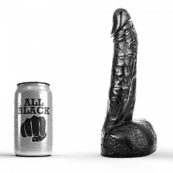 All Black Dildo 22cm - 115-ab11