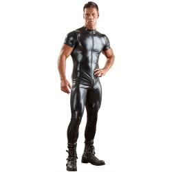Black wetlook jumpsuit sizes M > XXXL - or-2150255