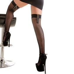 Hold-up Stockings with gold-coloured zip - or-2520567