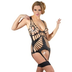 Latex Jarretel Hemd maten Small of Medium - Or-2901188
