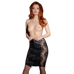 Leather Skirt sizes with Lace sizes S > XL - or-2000814