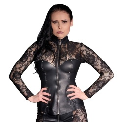Leather Jacket with Lace sizes M > XL - Or-2000806