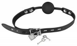 The Hush Afsluitbare Siliconen ball gag - Zwart - mae-sm-182blk-l