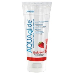 AQUAglide strawberry lubricant gel 100ml - Or-06171990000