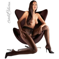 Black Open Crotch Tights - or-251005710