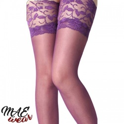 Purple Thigh-High Stockings - mae-cl-016pur