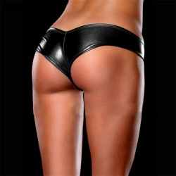 MAE-Wear Black Wetlook Slip - mae-cl-038