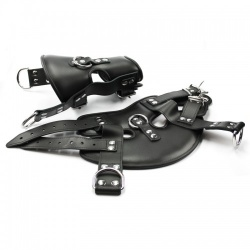 Heavy-duty Black Leather Suspension Cuffs - fp-104