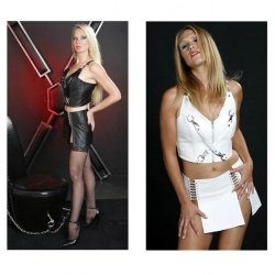 Leather Design set (Top+Skirt) by NLLeather - nl-b62-b61