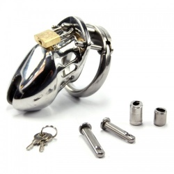 Metal CeeBee-6000 Steel Chastity Cage - short version - bhs-213s