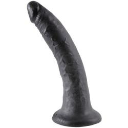 King Cock 7 inch Black Dildo - or-05326570000