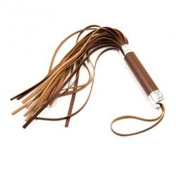 MAE-Toys Brown PU Leather Flogger  - mae-sm-033brn