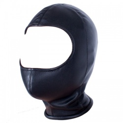 Black Faux Leather Hood - bhs-009z