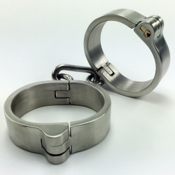 Heavy Stainless Steel Cuffs - mae-sm-038
