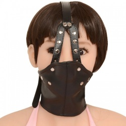 MAE-Toys PU Leather Ball Gag Mask - mae-sm-040