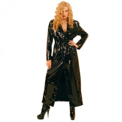 Long PVC Coat by Ledapol - le-1168