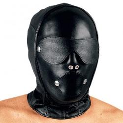 Leather Dildo Gag Bondage Mask by Ledapol - le-5232