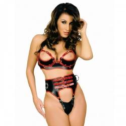Leather High Waist BDSM Slip by Ledapol - le-5799