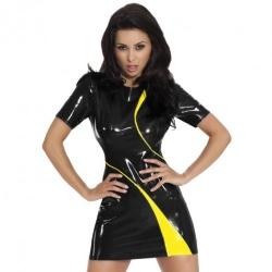Datex Kontrast Kleid vonInsistline - le-9225