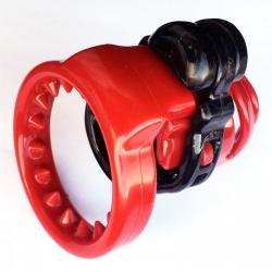 SpikeRing voor MAE-Toys Deluxe Kuisheidskooi Zwart/Rood - mae-sm-203spikes
