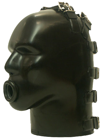 Latex Helm with opening for Inflatable Gag M4b-r  - sg-m4b-r