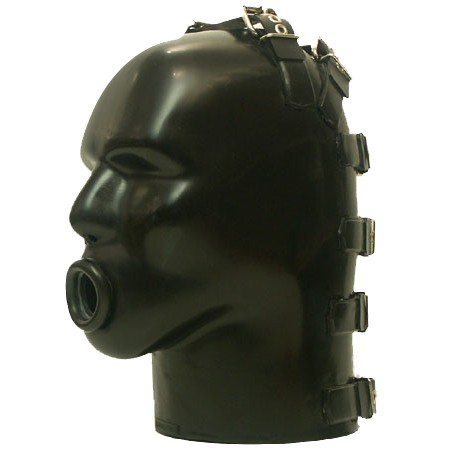 Latex Helm with Ring Gag by Studio Gum - sg-m4c-r