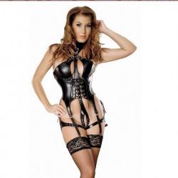 Leder Harness Body ouvert - le-5288