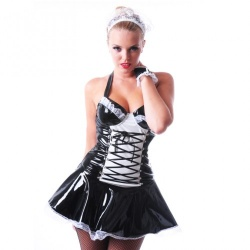 PVC Maid To Serve Dress & Cap - hr-h2160