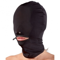 Spandex Masker met Rits van Fetish Collection - or-2491150