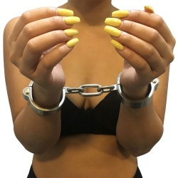 Heavy Stainless Steel Cuffs - Female - mae-sm-038f