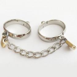 Oval metal Male Handcuffs - mae-sm-057m
