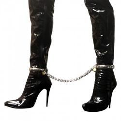 Oval metal Female Ankle Cuffs - mae-sm-058f