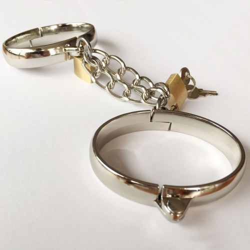 Steel and Leather Anklecuffs