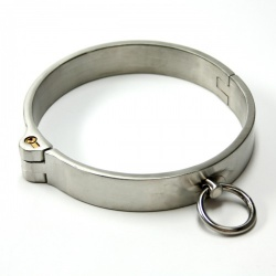 Stainless Steel Lockable Collar (Female Version) by MAE-Toys - mae-sm-067f