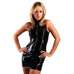 PVC Three Zip Justice Dress - h2119