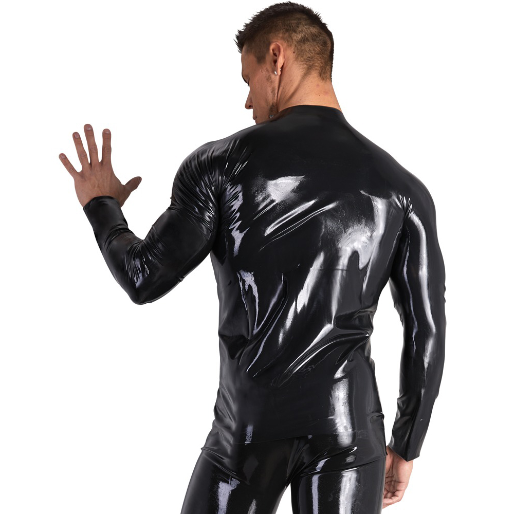 Latex Men's Longsleeve Shirt with Zipper by Late-X