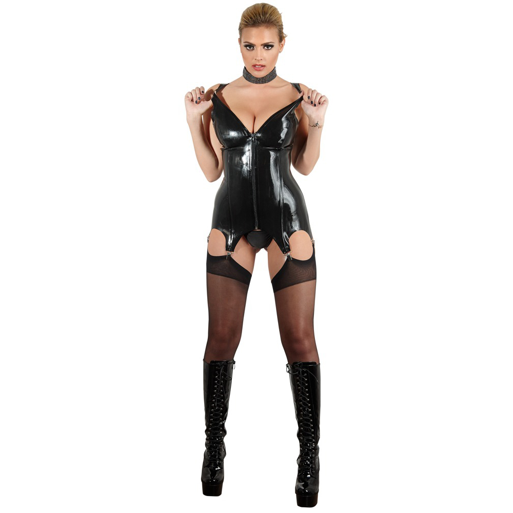 Latex Basque with Suspenders by Late-X
