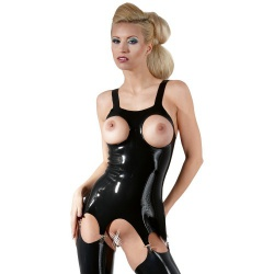 Latex Open Bust Basque by Late-X