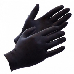 Black Latex Disposable Gloves by Rimba - ri-7289